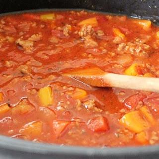 Crock Pot Meat Sauce.