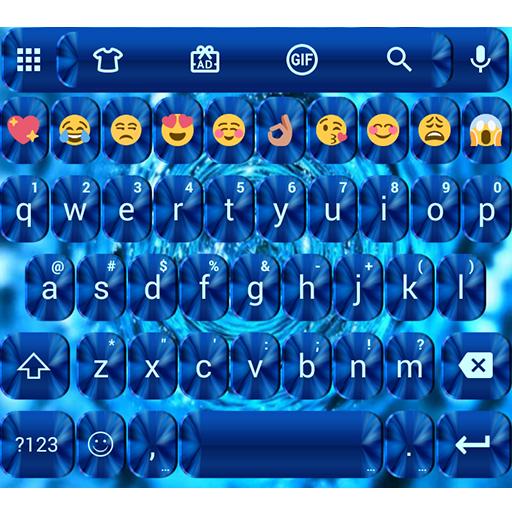Shading Blue Emoji Keyboard