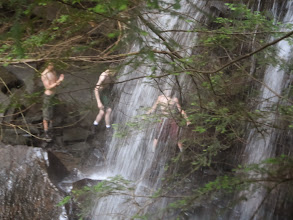 Photo: Showering in the falls...
