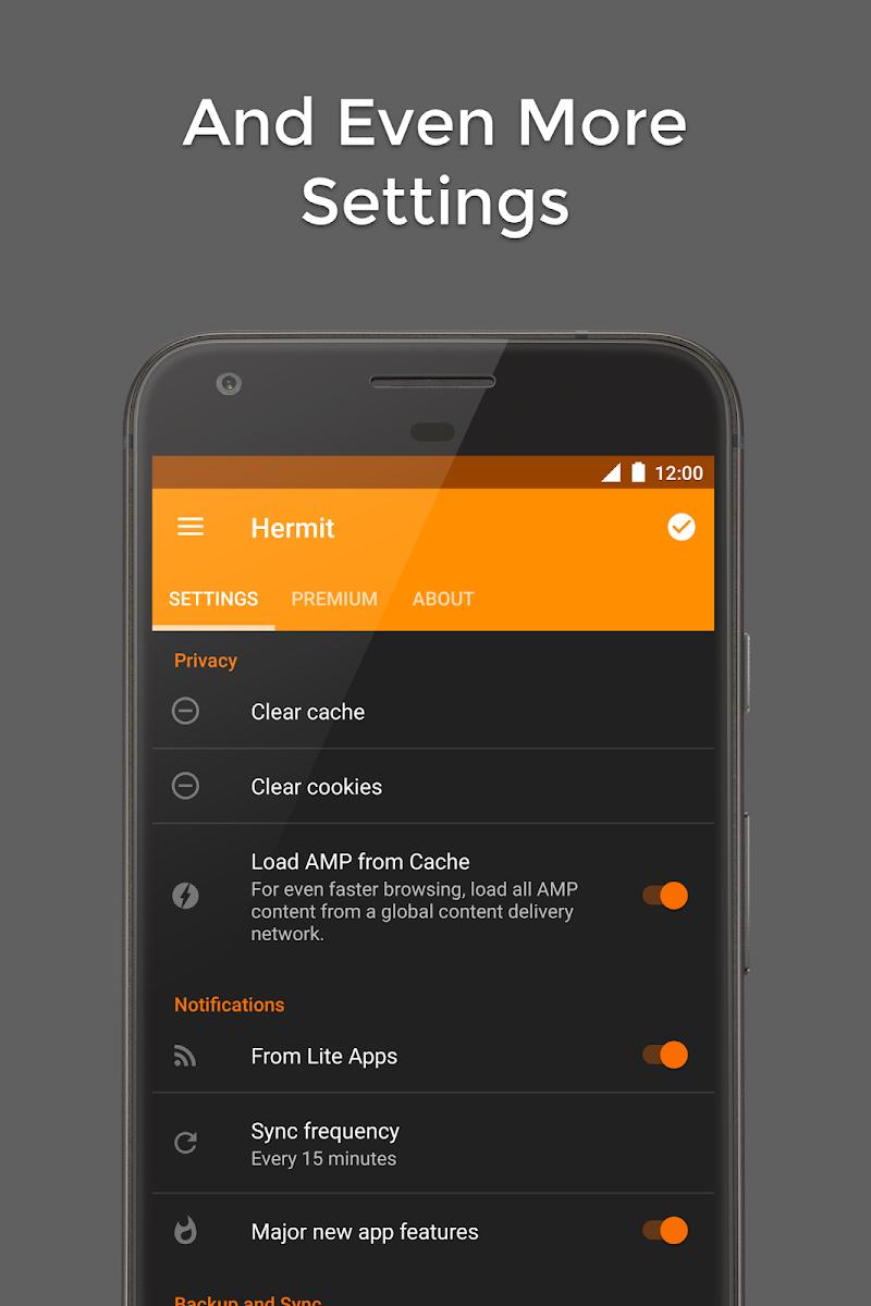 Hermit • Lite Apps Browser Screenshot 6