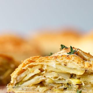 Potato Leek Cornish Pasty.
