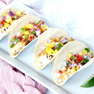 Coconut Crusted Fish Tacos.