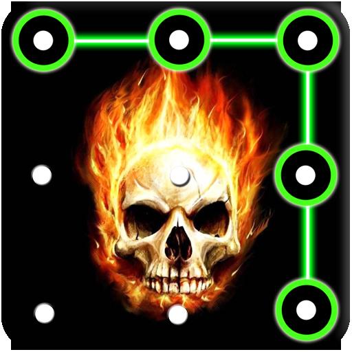 Skull Pattern Lock Screen