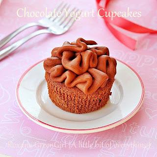 Chocolate Yogurt Cupcakes.