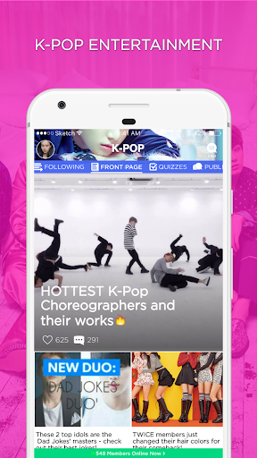 KPOP Amino for K-Pop Entertainment 1.11.23297 gameplay | AndroidFC 1