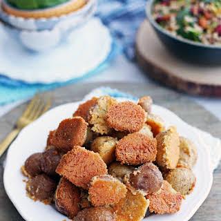 Crispy Parmesan Crusted Baby Potatoes.