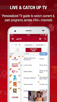Download JioTV for Android TV APK latest version by Reliance