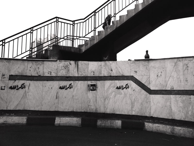 Photo: Day 114 +G+ 365 Project  23 April 2012 Under Over Pass To Zamalak, Cairo, Egypt  BlackandWhite this week's #365weeklytheme #365project  #egypt #streetphotography #cairo