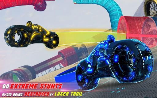 Tron Bike Stunt Racing 3d Stunt Bike Racing Games 101 gameplay | by HackJr.Pw 6