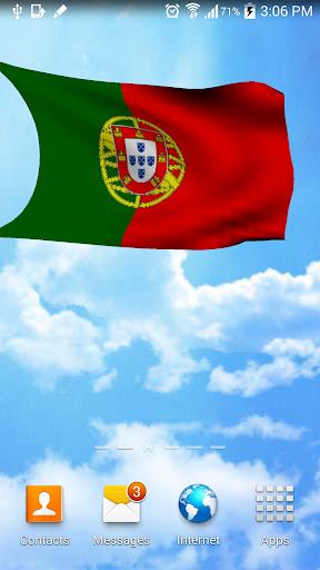 3D Portugal Flag Wallpaper