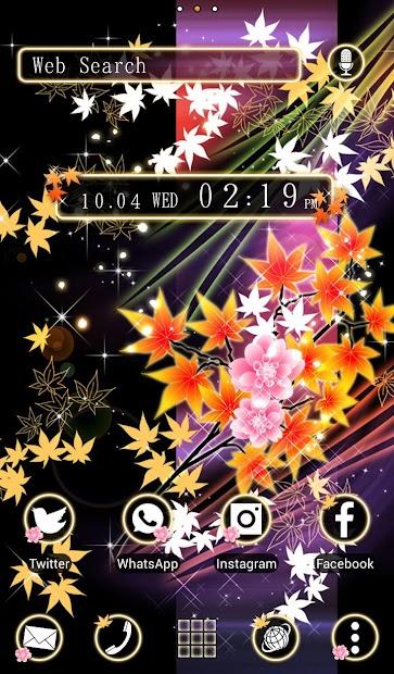 Beautiful Theme Leafy Fantasy Android App Screenshot