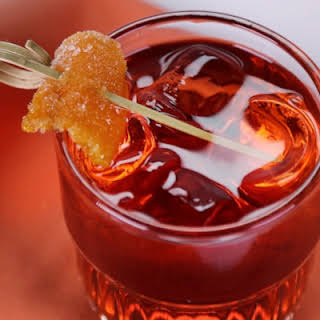 Negroni with Candied Orange Peel.