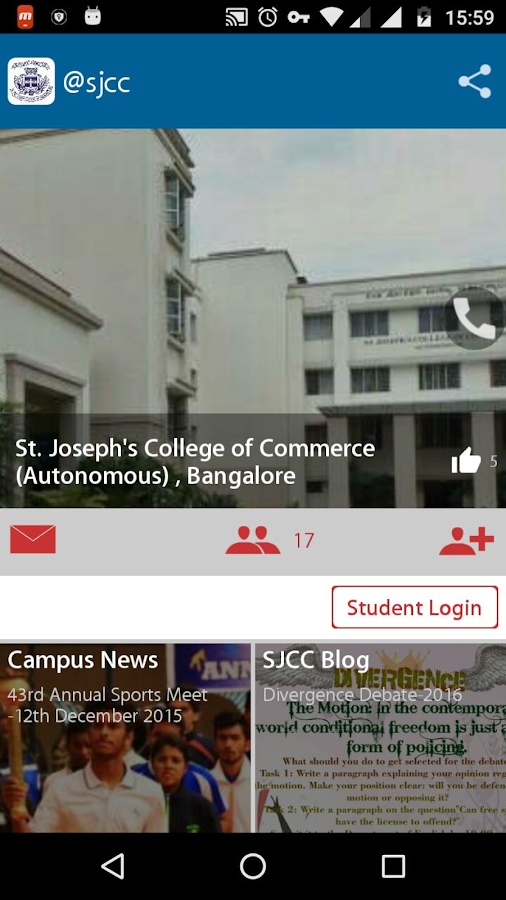 St.Joseph's  CollegeofCommerce- screenshot