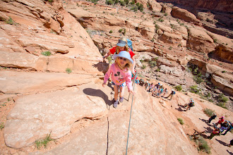 Photo: Sadie makes it to the top of the first steep section.
