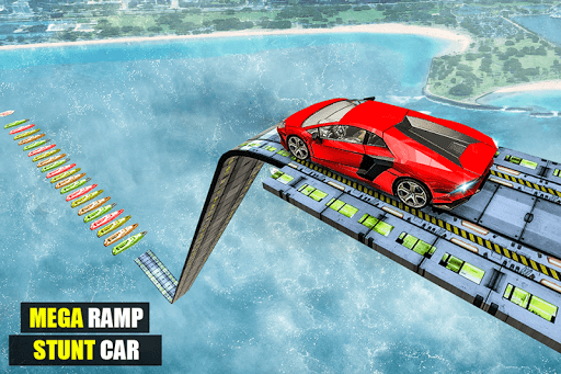 Mega Ramp Impossible Car Jump Over The Airplane screenshots 18