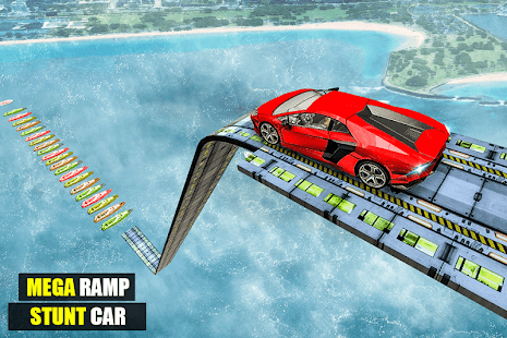 Mega Ramp Impossible Car Jump Over The Airplane Screenshot