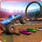 Monster Truck Demolition Smash Cars Android APK Download Free By PingOo Games