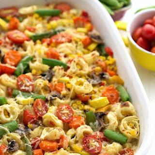 Creamy Tortellini Vegetable Bake.