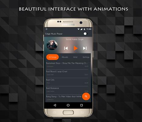 S8 Edge Music Player - screenshot