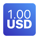 Currency Converter Exchange Rates - 1.00 USD icon