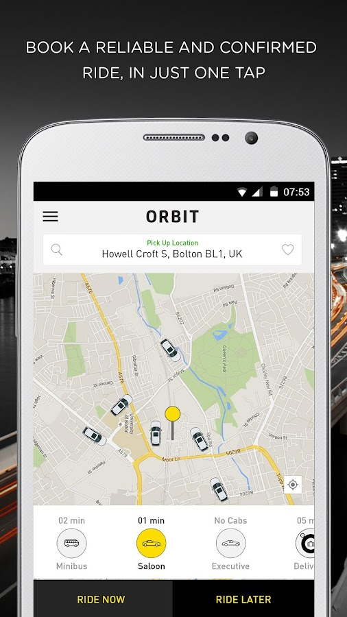 Orbit Taxi & Delivery- screenshot
