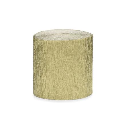 4-pack Crepepapper på rulle - guld