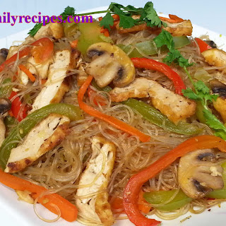 Vegetarian Stir-fry Glass Noodle with Tofu Recipe (Miến Xào Chay)