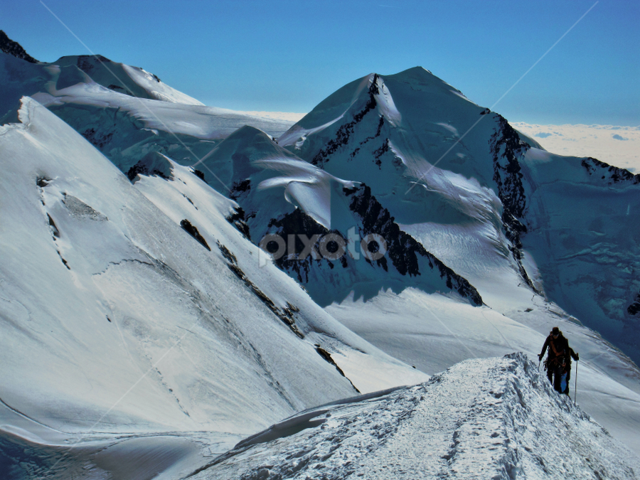 To the summit... by Fabio Ferraro - Landscapes Mountains & Hills ( breithorn, climbing, mountain, trekking, alps )