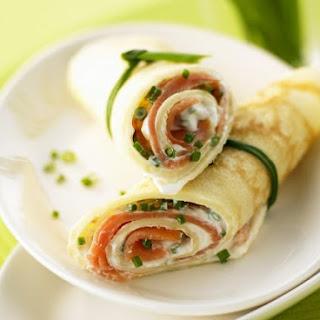 Salmon and Cream Cheese Wraps