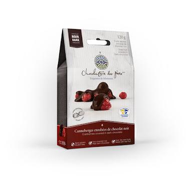 Chocolat Canneberges enrobées de chocolat  noir Boîtes maison