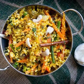 Cauliflower 'rice' Biryani.