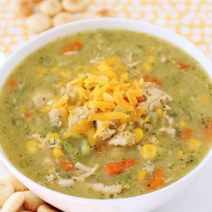 Cheddar Broccoli Chicken Soup