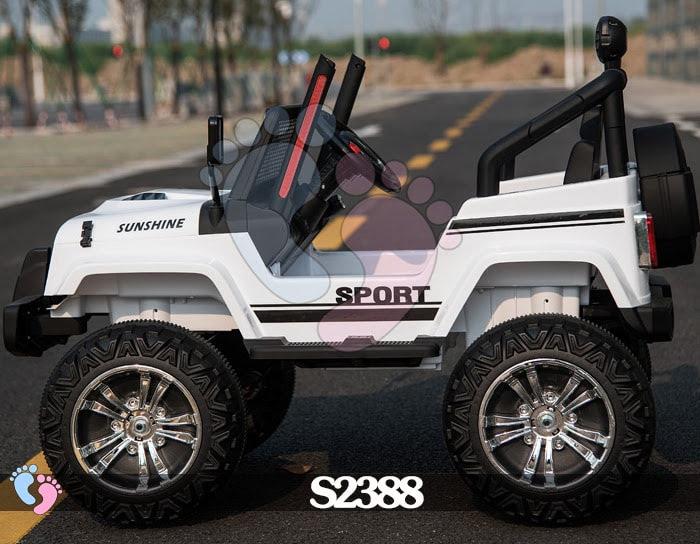 Ô tô điện địa hình S2388 4 động cơ, bánh cao su 6