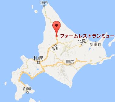 地図:ファームレストランミュー