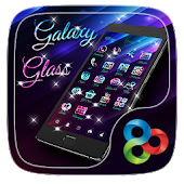 Galaxy Glass Go Launcher Theme