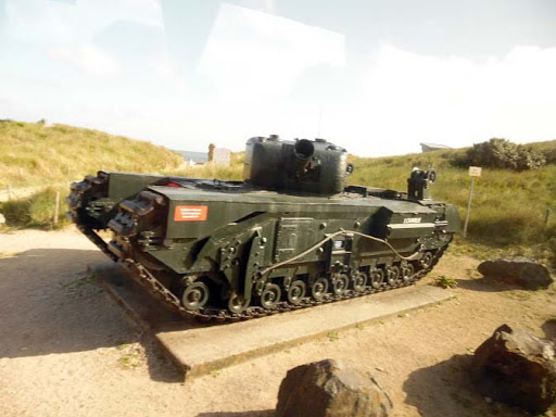 tank-at-normandy.jpg - Another tank, possibly a captured tank from the German army.