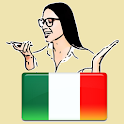 Learn Italian by voice and translation icon