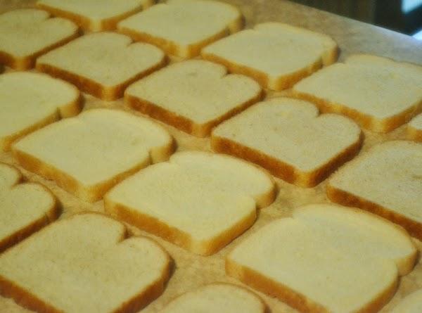 Arrange bread slices on countertop:  1st row across/6 slices white bread;  2nd...