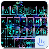 Neon Butterfly Keyboard Theme