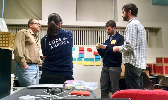 Code for America team maps a job seeker's journey.