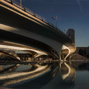 MIrrored by Karin Wollina - Buildings & Architecture Architectural Detail ( detail, bridge, architecture, valencia, spain,  )