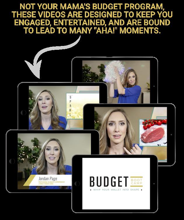 Jordan Page, Budget Boot Camp Videos
