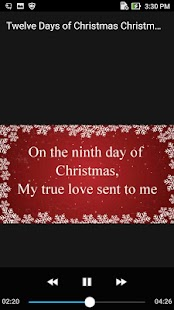 Twelve Days of Christmas Carol Song Offline - náhled