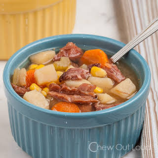 Ham, Potato, Vegetable Soup.