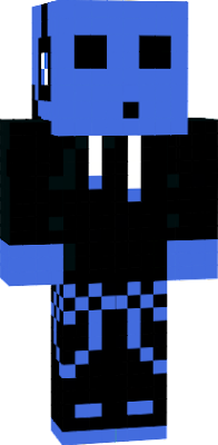 a blue slime person
