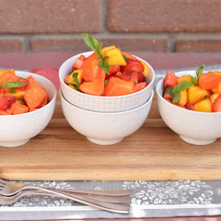 Thai-Inspired Fruit Salad with Lime and Thai Basil