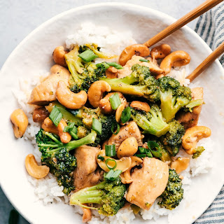 Garlic Chicken and Broccoli Cashew Stir Fry Recipe