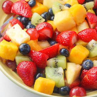 Summer Fruit Salad with Honey Lemon Dressing Recipe