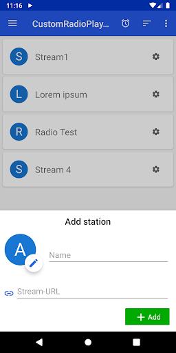 customradioplayer - basic url-radiostream app screenshot 2