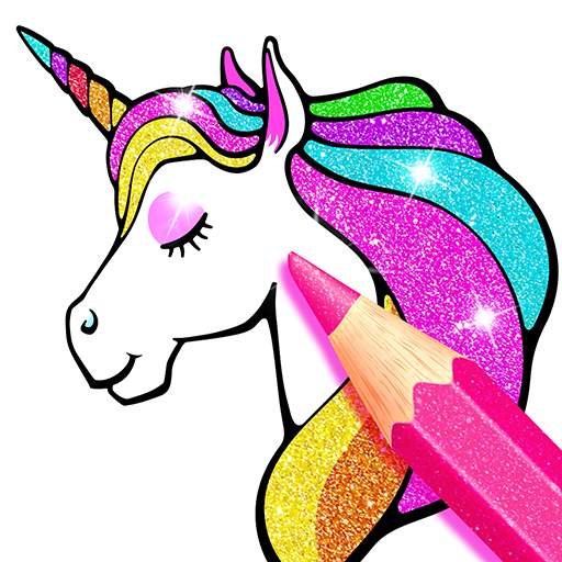 Rainbow Glitter Coloring Book Unicorn Artist – Apps bei